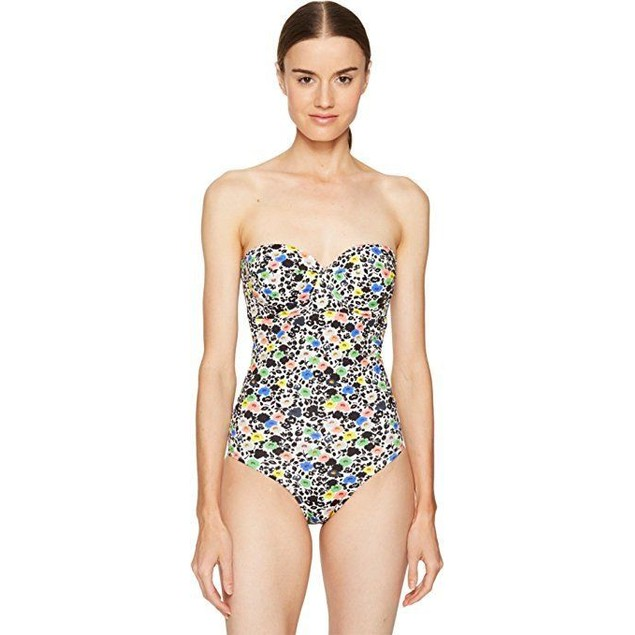 Paul Smith Women's Poppy Floral Cupped Swimsuit Floral Swimsuit Sz: XL