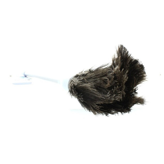Lot of 2 Ostrich Feather Dusters 14