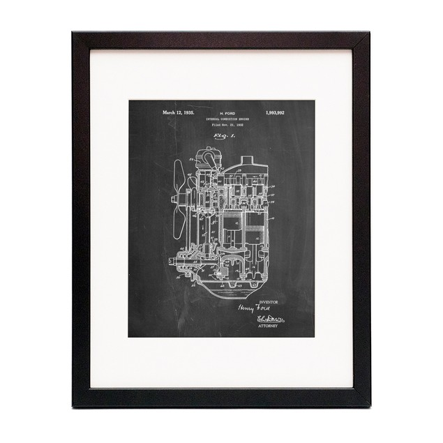 Internal Combustion Engine Patent Poster