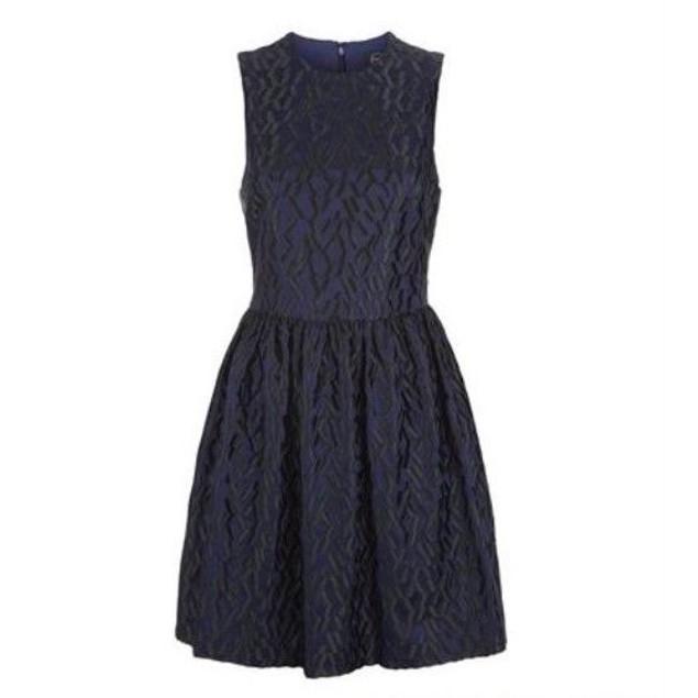 McQ Women's Volume Party Dress Navy 36 (US 0)