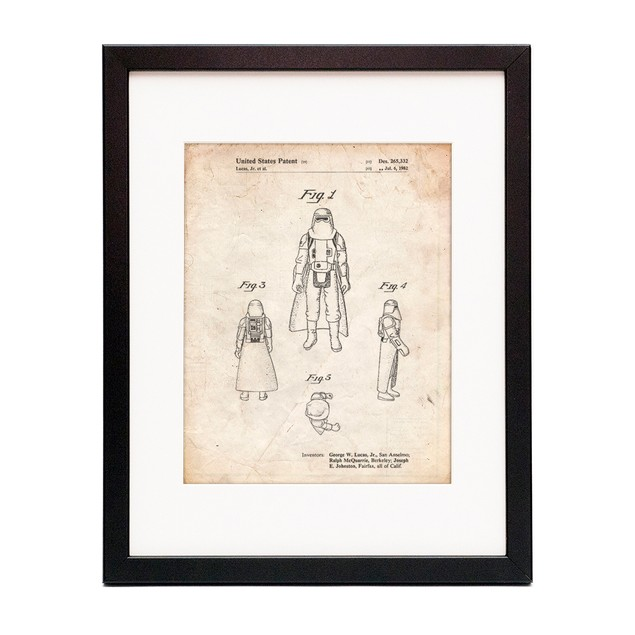 Star Wars Snowtrooper Patent Poster