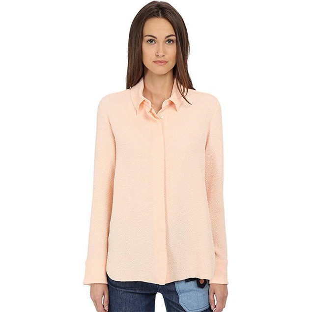 See by Chloe Women's Jacqrd Pleat Top Soft Pink 38 (US 4)