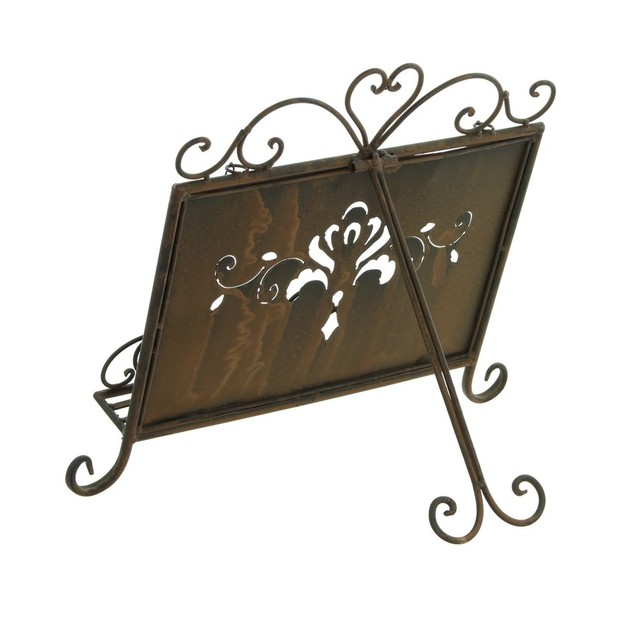 Chic Antique Metal Book Stand ~ Easel w/ Weighted Chains
