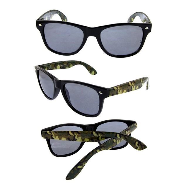 Men's Camo Square Horned Frame Sunglasses