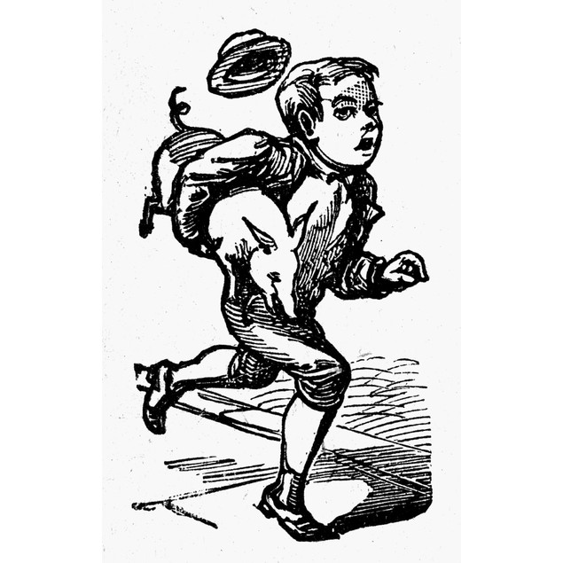 Tom, Tom The Piper'S Son. /Nwood Engraving From A Late-19Th Century America