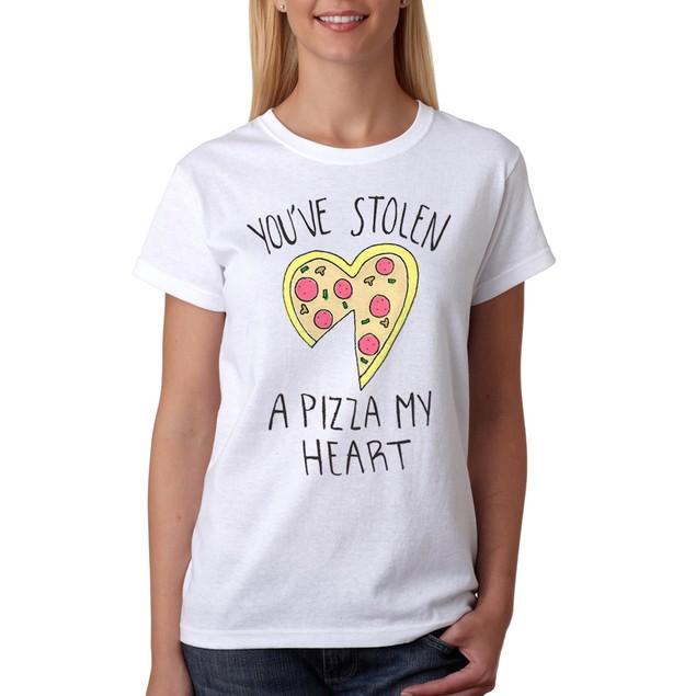 A Pizza My Heart Women's White T-shirt