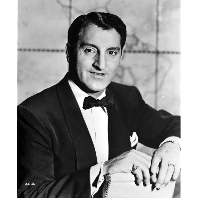 Danny Thomas wearing a suit and a bow tie Poster