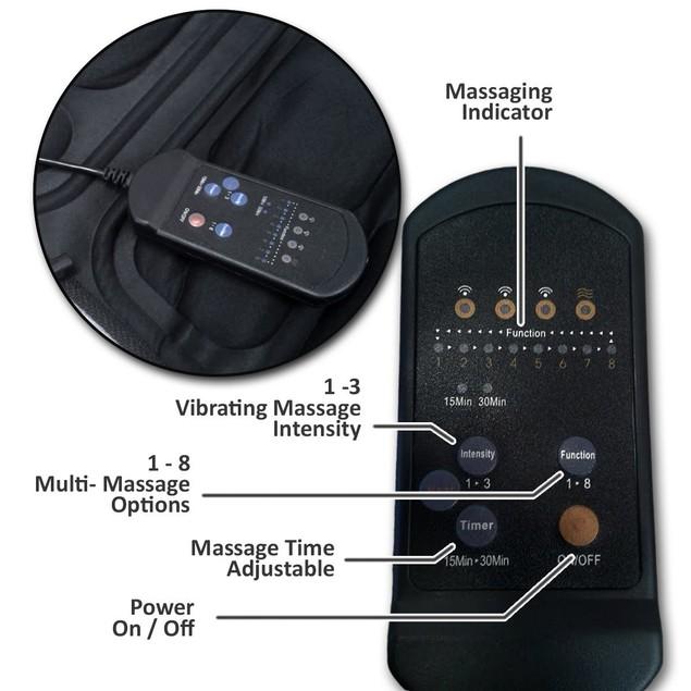 Zone Tech 8 Vibration Massage Chair Cushion