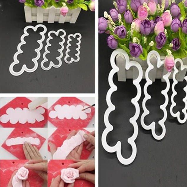 3PC One-Piece Plastic Mold Roses