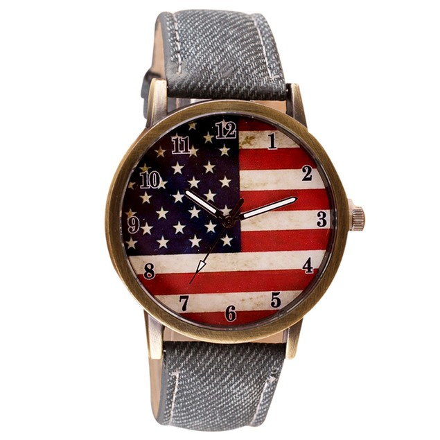 Unisex American Flag Watch on Strap - Assorted Colors