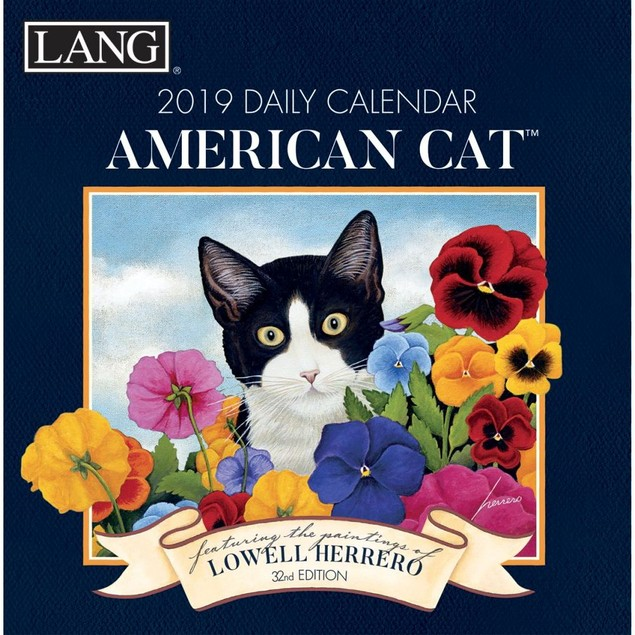 American Cat Desk Calendar, Cat Art by Calendars