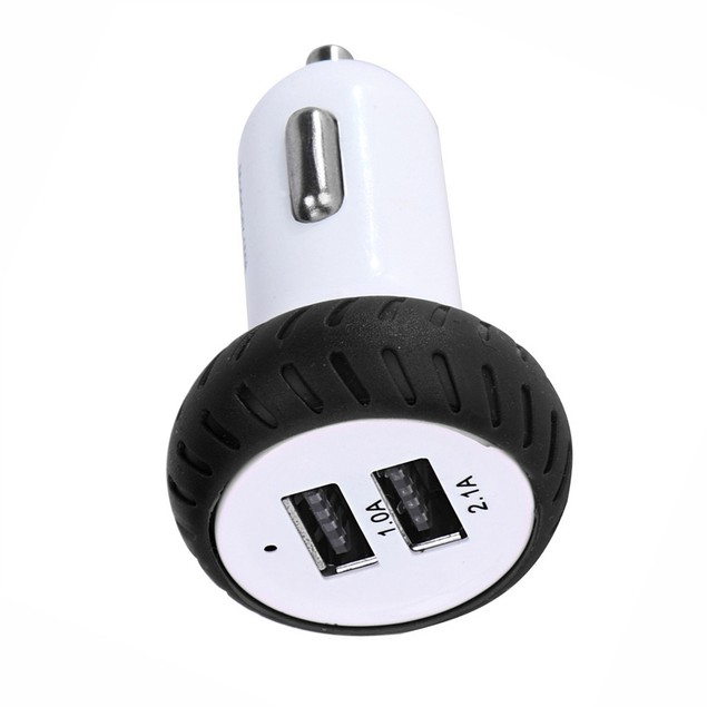Mini Dual 2 Port 12V USB Auto In Car Charger