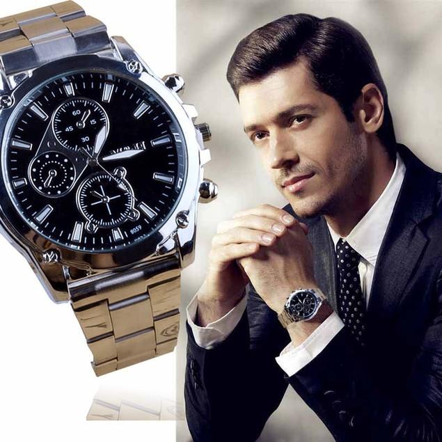 Men's Stainless Steel Sport Quartz Watch