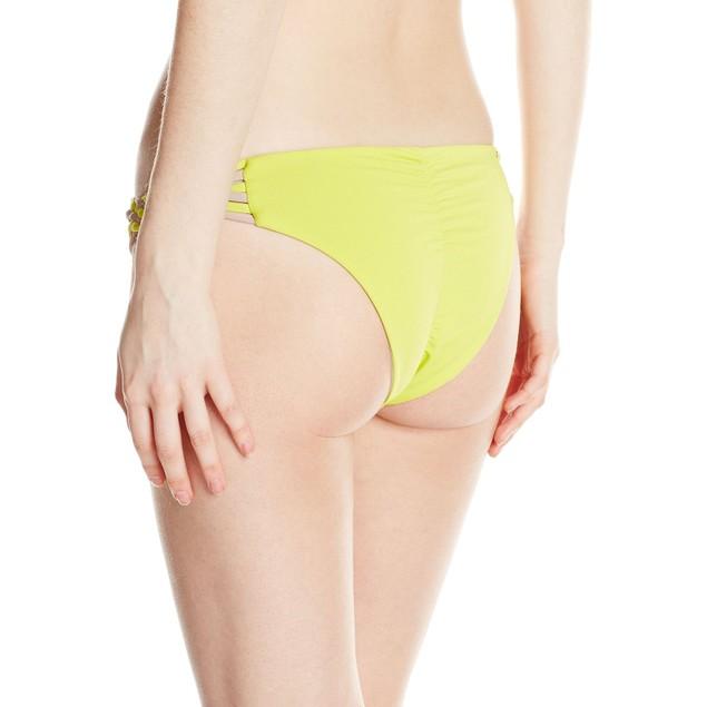 O'Neill Women's Surf Bazaar Braided Bikini Bottom, Lime/Lime, SIZE LAR