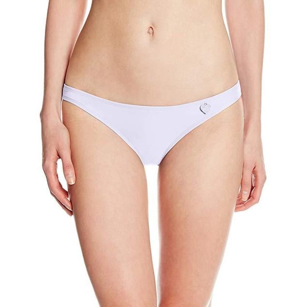 Body Glove Women's Smoothies Basic Bikini Bottom, White, SZ Medium