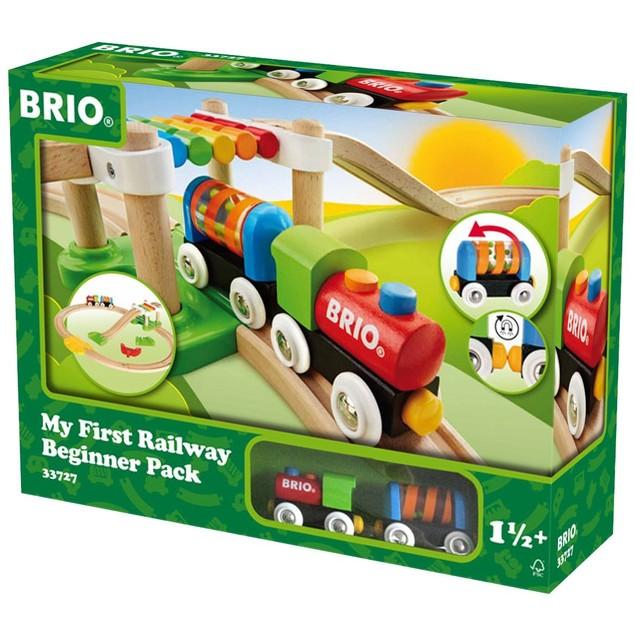 Brio My First Railway Beginner Pack Wooden Toy Train Set