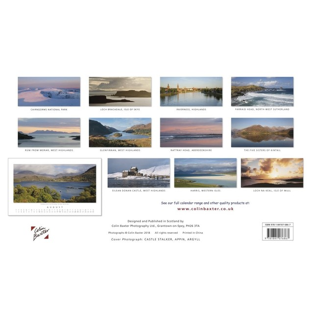 Scotland Panorama Wall Calendar, Scotland by Calendars