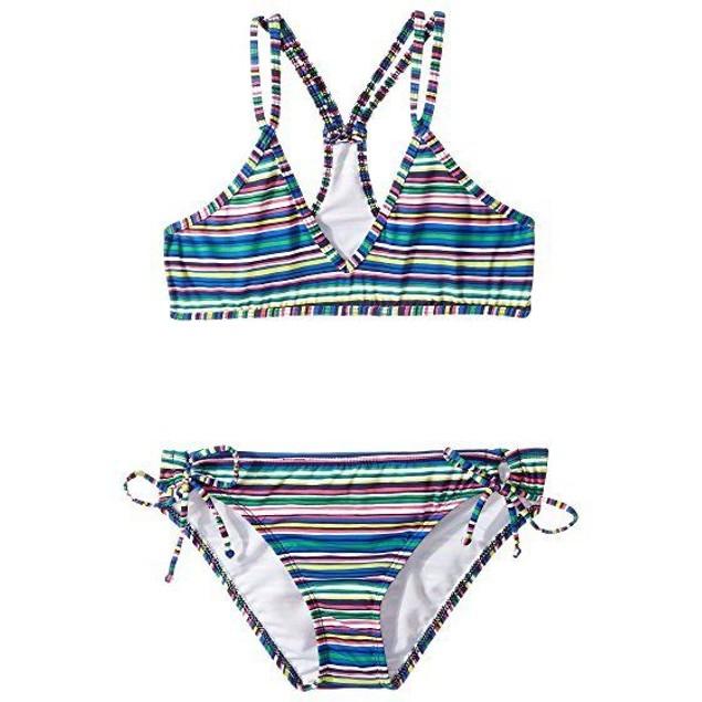 Ella Moss Girl's Printed Sport Bra Set Multi Swimsuit Set SIZE 14