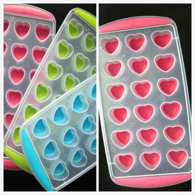 DIY Mould Mold Tray Pudding Silicone Ice Cube Jelly Chocolate Fruit Cake
