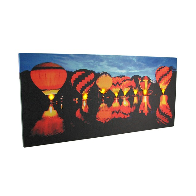 Sunrise Hot Air Balloon Race Led Lighted Canvas Prints
