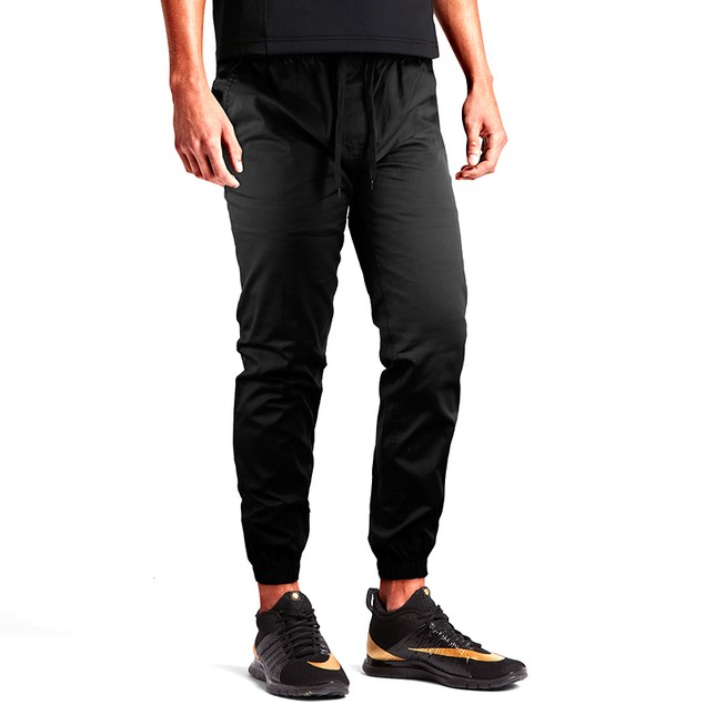 Men's Slim-Fit 100% Cotton Twill Joggers