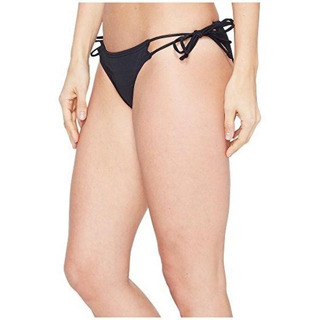 Echo Design Women's Solid String Bikini Bottom, Black, SIZE MEDIUM
