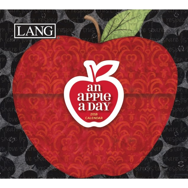"LANG - 2018, 365 Daily Thoughts Box Calendar - ""An Apple A Day"", Artwork by"