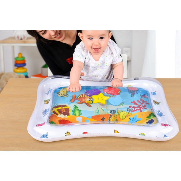 Adorable Tummy Mat For Infants | Colorful & Fun Inflatable Baby Water Mat