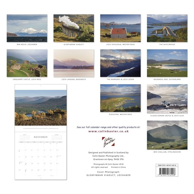 Scottish Highlands Wall Calendar, Scotland by Colin Baxter Photography