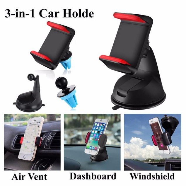 360 Car Holder Windshield Mount Bracket For Cell Phone iPhone Samsung GPS