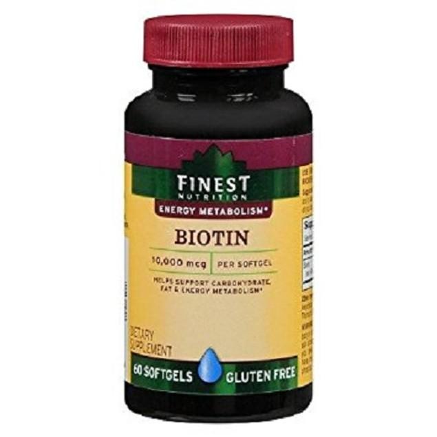 Finest Nutrition Biotin 10,000 MCG Softgels Gluten Free