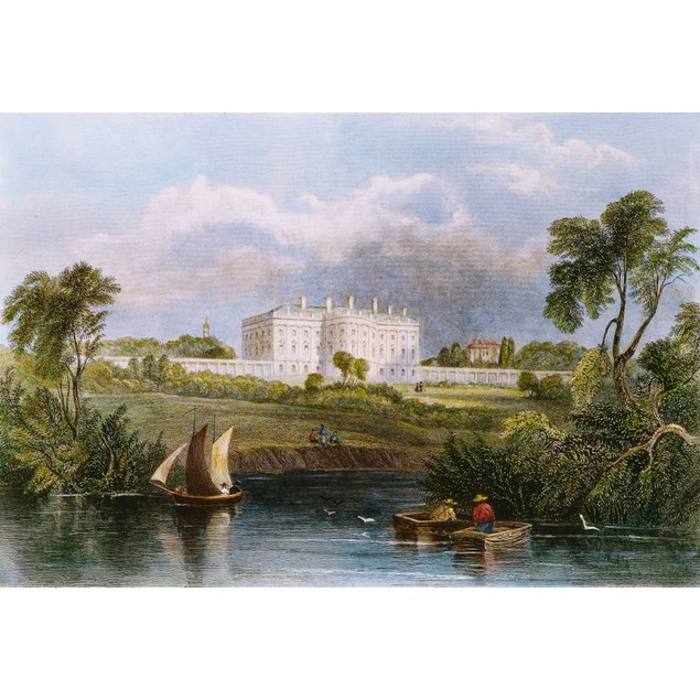 White House, D.C., 1839. /Nview Of The White House From The Potomac River:
