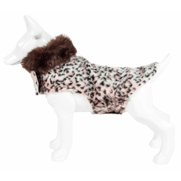 Pet Life Luxe 'Furracious' Cheetah Patterned Mink Dog Coat Jacket