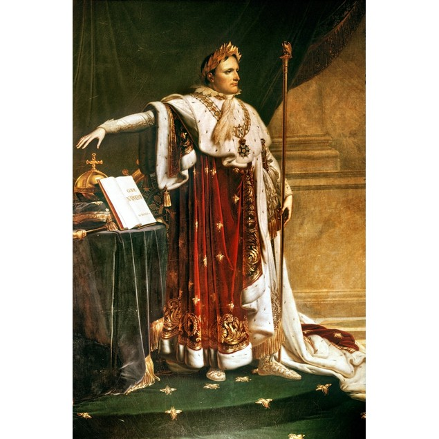 Napoleon Bonaparte /Nin Coronation Robes, 1804. Oil On Canvas By Anne-Louis