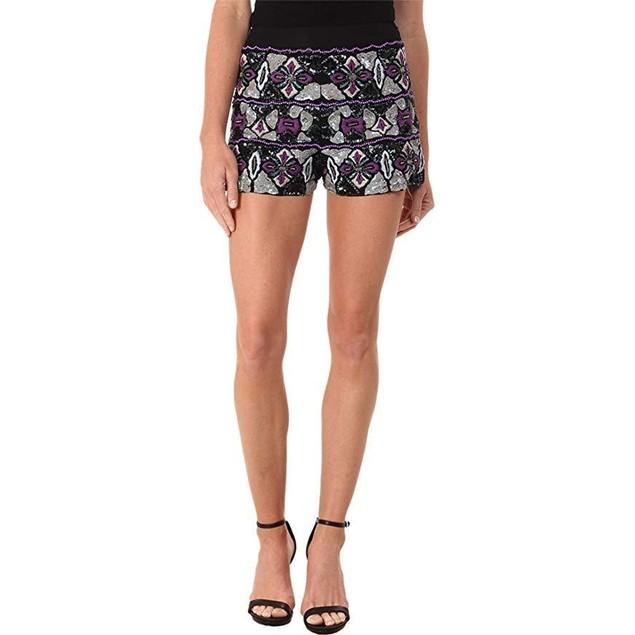 KAS New York Women's Halimah Sequin & Beaded Shorts Multi SM X 2