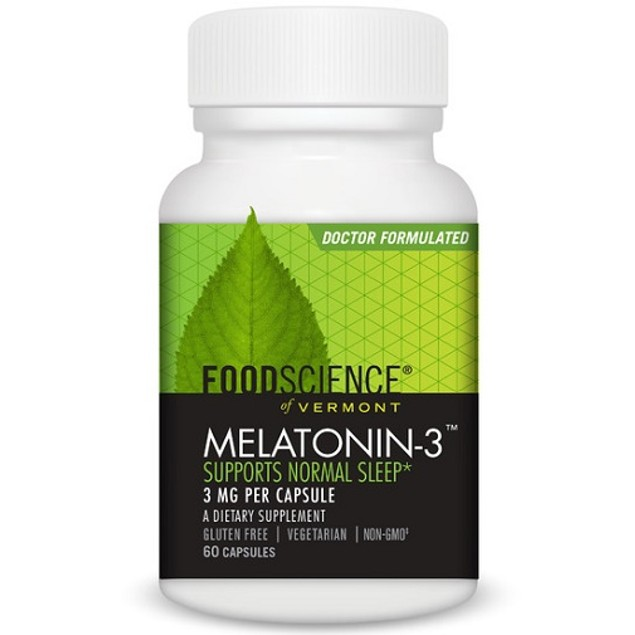 FoodScience of Vermont Melatonin-3 Capsules