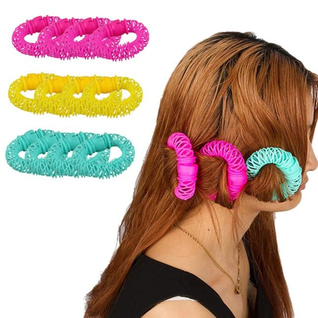 8PCS Styling Hair Sweet Ring Hair Curlers