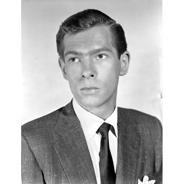 Johnnie Ray Looking Serious in Black Suit Poster