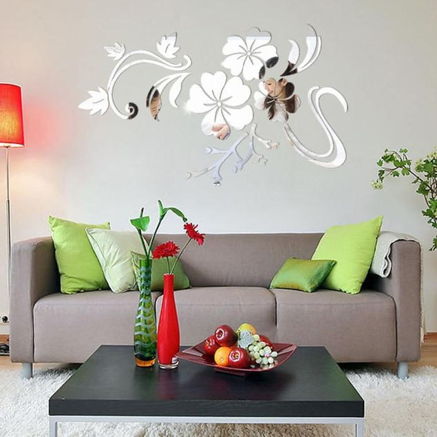 1PC 3D DIY Mirror Removable Vinyl Wall Sticker Art Decal Home Decor