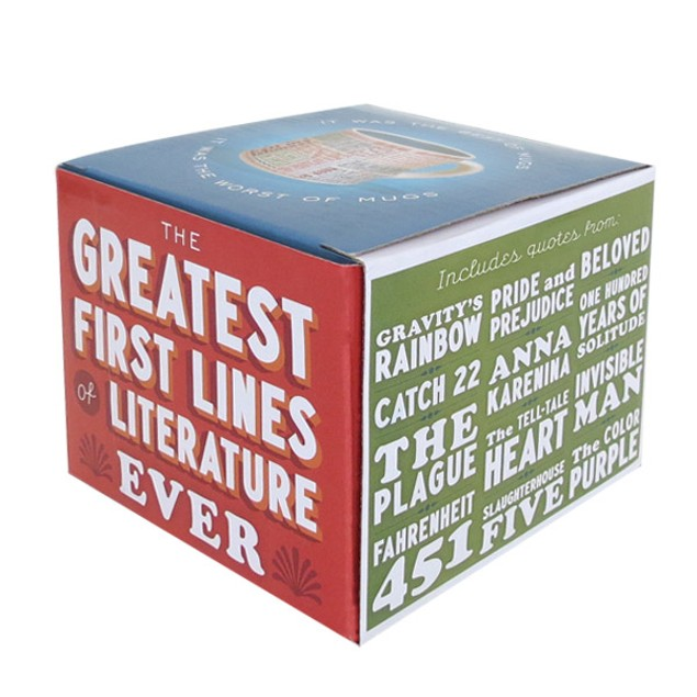First Lines Of Literature Mug Book Quote Coffee Tea 14 oz Authors Writers