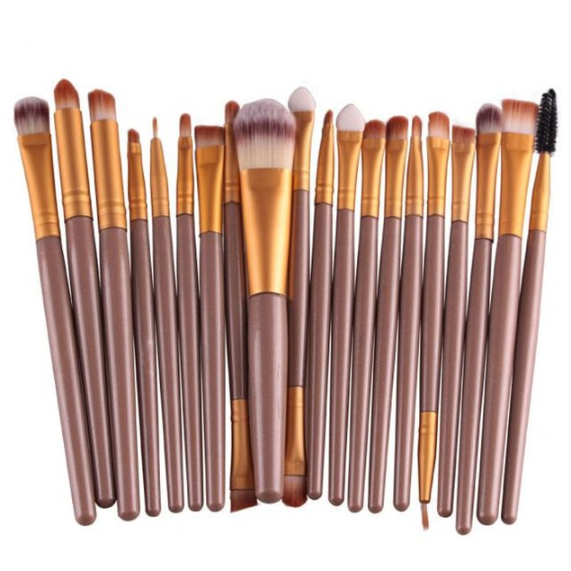 20 pcs Toiletry Kit Wool Makeup Brush Set tools