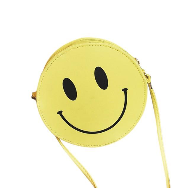 Funny Smiling Face Women Girls Kid Shoulder Bag Handbag