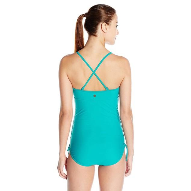 prAna Women's Moorea One Piece Swimsuit, Dragonfly, SZ: SMALL