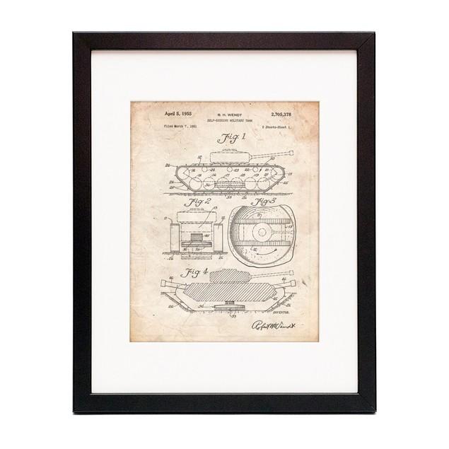 Military Self Digging Tank Patent Poster