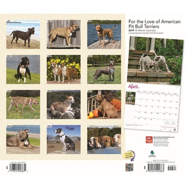 Pit Bull Terriers Wall Calendar, Pit Bull by Calendars