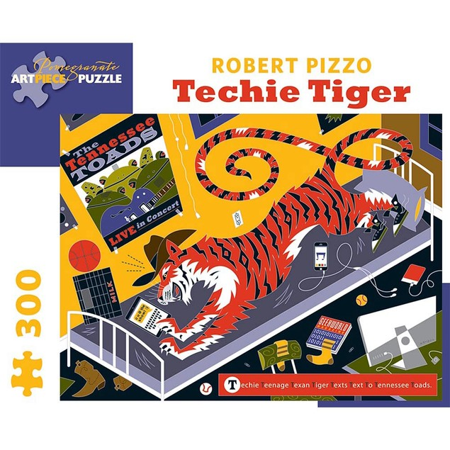 Techie Tiger 300 Piece Puzzle, More Puzzles by Pomegranate