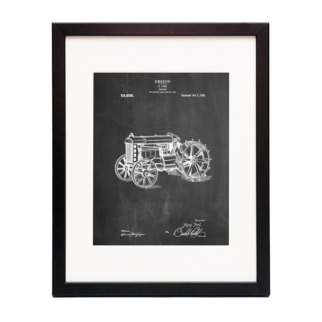 Tractor Patent Poster