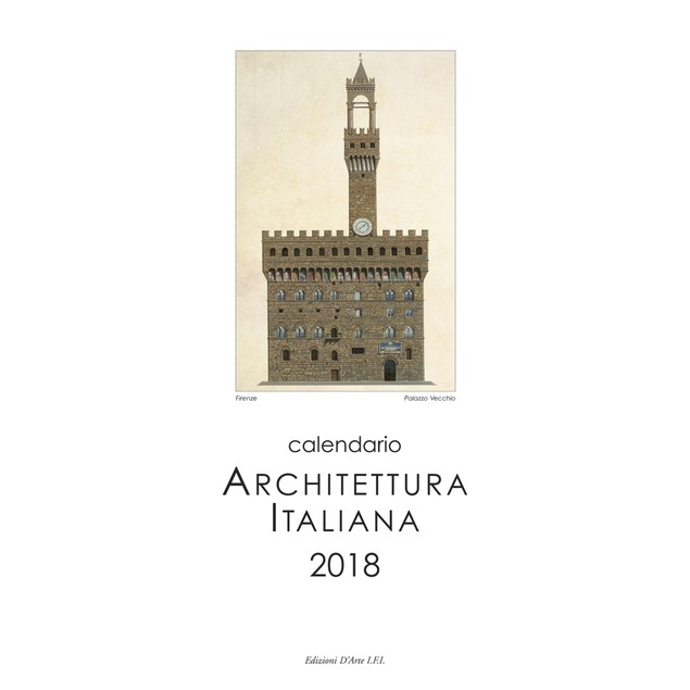 Architettura Italiana Vertical Wall Calendar (Bilingua