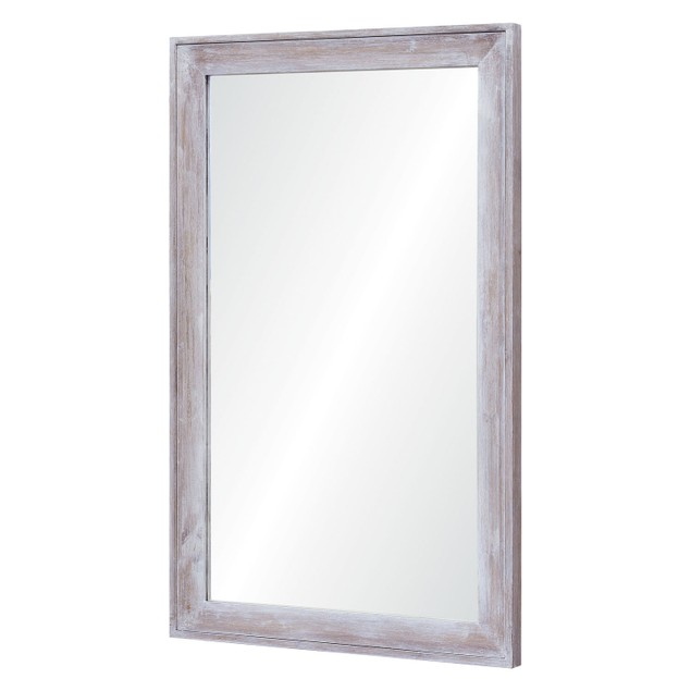 Renwil Madison Framed Handpainted Wood Finish Finish Wall Mirror