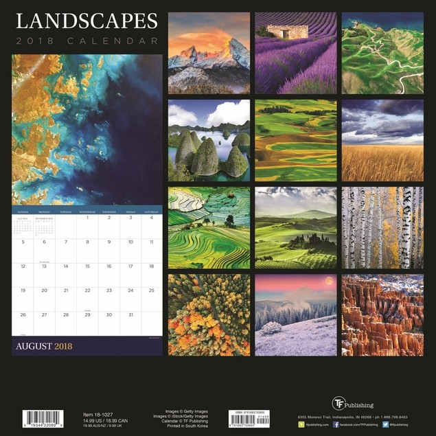 Landscapes Wall Calendar, Globetrotter by Calendars